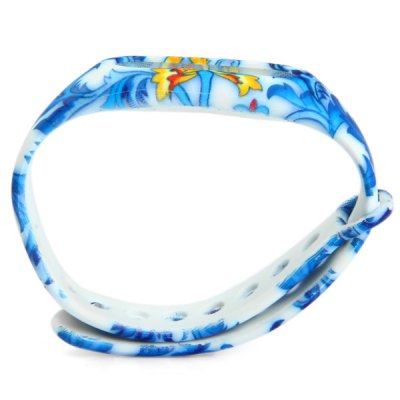 Фотография Blue and White Porcelain TPU Wristwatch Band for Xiaomi Miband / 1S