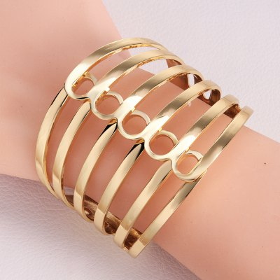 Chic Openwork Stripe Design Alloy Bracelet For Women