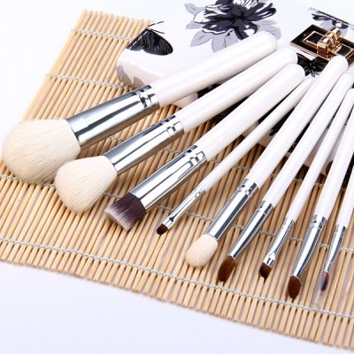 9pcs / Set Beauty Facial Makeup Brush Kit with Arabesquitic Brush Bag