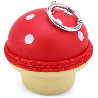 Mushroom Pattern Soft Material Key Money Bag Case with Metal Buckle