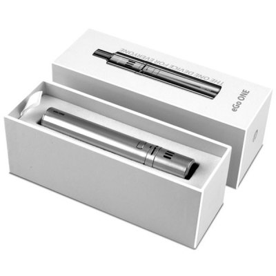 Joyetech eGo ONE Stainless Steel Electronic Cigarette Starter Kit  -  1100mAhStarter Kits<br>Joyetech eGo ONE Stainless Steel Electronic Cigarette Starter Kit  -  1100mAh<br><br>Brand: Joyetech<br>Type: E-Cigarette Starter Kit<br>Model: EGO<br>Material: Stainless Steel<br>Style: Rechargeable<br>Variable voltage: Yes<br>Adjustable voltage range: 3.3~4.2V<br>Battery Capacity: 1100mAh<br>Atomizer Capacity: 1.8ml<br>Charge way: USB,AC Charger<br>Available color: Black,White,Red,Blue,Azure,Silver<br>Product weight: 0.050 kg<br>Package weight: 0.281 kg<br>Product size (L x W x H): 10.60 x 1.90 x 1.90 cm / 4.17 x 0.75 x 0.75 inches<br>Package size (L x W x H): 16.20 x 5.60 x 6.00 cm / 6.38 x 2.2 x 2.36 inches<br>Package Contents: 1 x Ego One Battery, 1 x Ego One Atomizer Tube, 2 x Ego One CL Atomizer Head (0.5 / 1.0 ohm), 1 x Ego One Atomizer Base, 1 x Ego One Mouthpiece (Metal), 1 x Ego One Mouthpiece (Organic Glass), 1 x USB