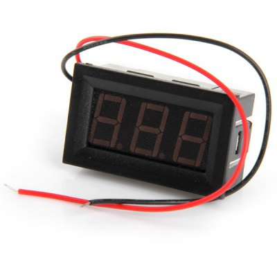 Iron + Plastic + PCB V27D 3 - Digit Direct Current Voltmeter Meter Module