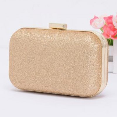 Stylish Chain and Bling Bling Design Women's Clutch Bag