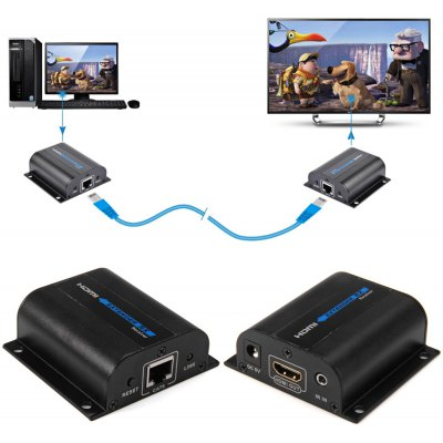 LKV372A Full HD 1080P 60M HDMI Extender CAT6 with IR Control Support HDMI 3D