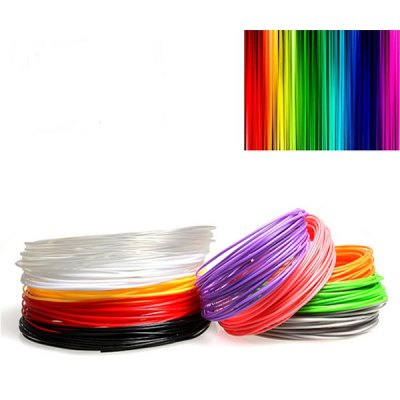 Sunlu 20pcs ABS 1.75mm 3D Printer Filament Supplies for Printing Pen 10m