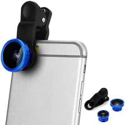 LP 3001 3 in 1 Universal Clamp Camera Lens Including Fisheye Macro and Wide Angle