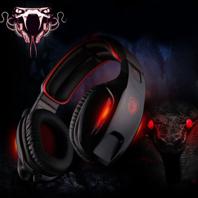 Sades SA  -  902 7.1 Surround Sound USB Gaming Headset with Mic Volume Control for PC Laptop
