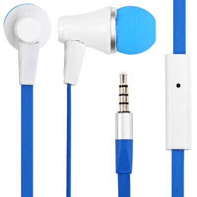 Awei ES  -  300i 1.2m Flat Cable Design In - ear Earphone with Mic for Smartphone Tablet PC