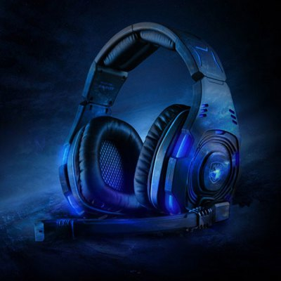 Sades SA  -  907 7.1 Surround Sound USB Gaming Headset with Mic Voice Control LED Light for PC Laptop