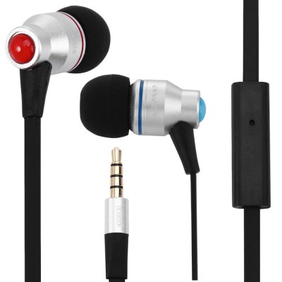 Awei TE800i 1.2m Flat Cable Design In - ear Earphone with Mic for Android Mobile Phone