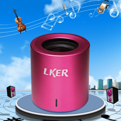 LKER Fun Mini Wireless HiFi Portable Stereo Bluetooth Speaker
