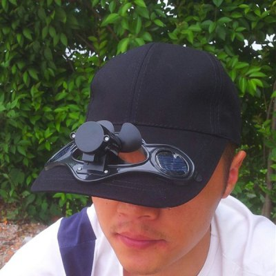 Solar Power Hat Peak Cap Sunhat with Air Fan for Summer Outdoor Sports Cycling SuppliesHats and Scarfs<br>Solar Power Hat Peak Cap Sunhat with Air Fan for Summer Outdoor Sports Cycling Supplies<br><br>Color: Black,White,Red,Blue,Yellow<br>Functions: Sun protection, Stylish, High quality, Sun Block<br>Package Contents: 1 x Solar Fan Hat<br>Package size (L x W x H): 32.00 x 22.00 x 10.00 cm / 12.6 x 8.66 x 3.94 inches<br>Package weight: 0.160 kg<br>Product size (L x W x H): 31.00 x 20.00 x 14.00 cm / 12.2 x 7.87 x 5.51 inches<br>Product weight: 0.159 kg<br>Size: One Size<br>Suit for head circumference: 55 - 63cm
