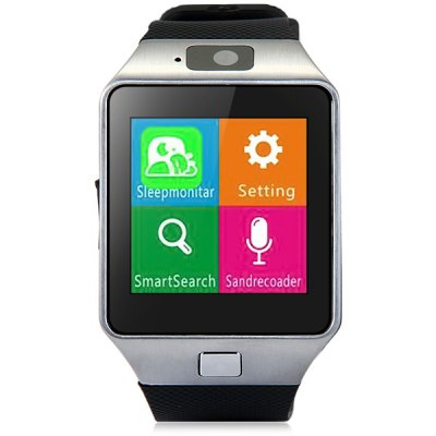 DZ09 Single SIM Smart Watch Phone for AndroidSmart Watch Phone<br>DZ09 Single SIM Smart Watch Phone for Android<br><br>Battery: 1 x 380mAh<br>Bluetooth: Yes<br>Bluetooth Version: V3.0<br>Camera type: Single camera<br>Cell Phone: 1<br>CPU: MTK6261<br>English Manual : 1<br>External Memory: TF card up to 32GB (not included)<br>Frequency: GSM850/900/1800/1900MHz<br>Front camera: 0.08MP<br>Languages: Thai language, Vietnamese, Hindi, Malaysia language, Burmese, English<br>Network type: GSM<br>Package size: 11.00 x 11.00 x 9.00 cm / 4.33 x 4.33 x 3.54 inches<br>Package weight: 0.1400 kg<br>Product size: 4.35 x 4.00 x 0.98 cm / 1.71 x 1.57 x 0.39 inches<br>Product weight: 0.0510 kg<br>RAM: 32MB<br>ROM: 32MB<br>Screen resolution: 240 x 240<br>Screen size: 1.54 inch<br>SIM Card Slot: Single SIM(Micro SIM slot)<br>Speaker: Supported<br>TF card slot: Yes<br>Type: Watch Phone<br>USB Cable: 1<br>Wireless Connectivity: Bluetooth