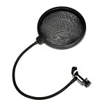 Professional MPF-6 6-Inch Clamp On Microphone Pop Filter Bilayer Recording Spray Guard