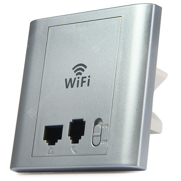 LAFALINK PW300P24C 300Mbps 2.4G Wireless Inwall PoE Access Point with Telephone Port 24V WiFi Extend