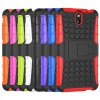 cheap Stand Design TPU and PC Material Tire Pattern Protective Back Cover Case for HTC Desire 610