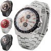 cheap Miler A8272 Quartz Watch Non - functioning Sub - dials Stainless Steel Strap for Men