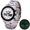 cheap Naviforce 9024 Stainless Steel Body Men Dual Movt Watch with Date Day Function