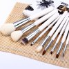 9pcs / Kit Specialized Beauty Cosmetic Brush with Arabesquitic Brush Holder for Professional Makeup photo