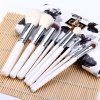9pcs / Kit Specialized Beauty Cosmetic Brush with Arabesquitic Brush Holder for Professional Makeup for sale