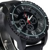 JIS Colorful Light Quartz Watch with Stereo Scale Rubber Band for Man photo
