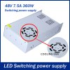 AC 110 / 220V to DC 48V 360W 7.5A Switching Power Supply for LED Tape Light for sale