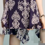 best Elegant V-Neck Long Sleeve Loose-Fitting Printed Chiffon Dress For Women