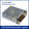 60W 12A DC 5V Output Switching Power Supply Transformer for LED Strip Light