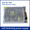 75W 3A DC 24V Output Switching Power Supply Transformer for LED Strip Light for sale