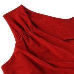 Trendy Plunging Neckline Solid Colour Sleeveless Dress For Women deal