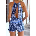 Sleeveless Cut Out Dressy Pants Romper deal