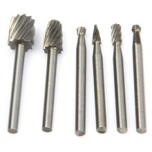 WLXY 6PCS Different Shapes Tungsten Steel Alloy Rotary File Set for Drill Tool