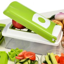 12Pcs Multi - function Shredder Salad Machine Kitchen Slicer Cutter Containers for Cutting Vegetable Fruit