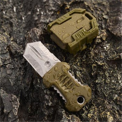 EDC Gear Webbing Buckle Design Outdoor One Full Blade Survival Knife with Strap