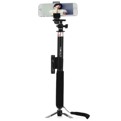 Stretch Selfie Monopod with Bluetooth Wireless Self Timer Camera Shutter Tripod and Phone StandStands &amp; Holders<br>Stretch Selfie Monopod with Bluetooth Wireless Self Timer Camera Shutter Tripod and Phone Stand<br><br>Compatibility: HTC, Sony Ericsson, Samsung S6, iPhone 5/5S, Samsung Galaxy S4 i9500, HTC ONE M9, iPhone 4/4S, Xperia Z3, Blackberry, Samsung Galaxy Note 3, iPhone 6 Plus, HTC, Samsung Galaxy S5, iPhone 6, Galaxy Not<br>Features: with Bluetooth, Selfie Stick, with Remote Control<br>Bluetooth Version: Bluetooth 2.0<br>Compatible System Version: Android 2.0, Android 4.2, Android 3.0, iOS 8, Android 4.4, Android 3.1, iOS 7, Android 3.2, iOS 6, Android 4.0, iOS 5, Android 4.1<br>Material: Aluminium Alloy, Plastic<br>Folding Length: 35 cm / 13.8 inch<br>Extended Length: 95 cm / 37.4 inch<br>Product Weight: 0.300 kg<br>Package Weight: 0.380 kg<br>Product Size: 32 x 3 x 3 cm / 12.58 x 1.18 x 1.18 inches<br>Package Size: 38 x 13 x 5 cm / 14.93 x 5.11 x 1.97 inches<br>Package Contents: 1 x Selfie Monopod, 1 x Phone Holder, 1 x Bluetooth RC Self Timer Shutter, 1 x Shutter Holder, 1 x Tripod, 1 x Cell Battery, 1 x Tool