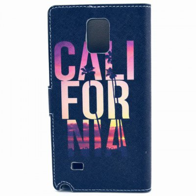 Гаджет   Stand Design English Words Pattern PU Leather Phone Cover Case with Card Holder for Samsung Galaxy Note 4 N9100 Samsung Cases/Covers