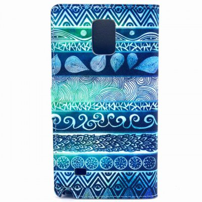 Фотография Stand Design Unique Graffiti Pattern PU Leather Phone Cover Case with Card Holder for Samsung Galaxy Note 4 N9100