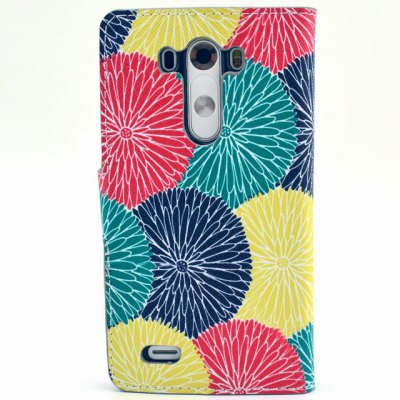 Гаджет   Stand Design Contrast Color Circle Pattern PU Leather Phone Cover Case with Card Holder for LG G3 Other Cases/Covers