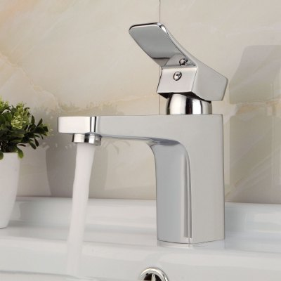 Lidanda Yake Brass Basin Mixer Faucet with Cold and Hot Water Function