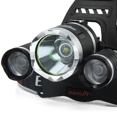 Boruit Cree Q5 Red + White Light Water - resistant LED HeadlightHeadlights<br>Boruit Cree Q5 Red + White Light Water - resistant LED Headlight<br><br>Brand: Boruit<br>Headlight brand: Boruit<br>Function: Seeking Survival, Night Riding, EDC, Hunting, Exploring, Camping, Hiking, Fishing, Walking<br>Feature: Can be used as headlamp or bicycle light, Aluminum Alloy Bezel<br>Lumen: 300Lm<br>Emitter type: Cree Q5<br>Emitter number: 3<br>Mode: 4 (White; Red; White + Red; Strobe - White + Red Light)<br>Battery  : 2 x 18650 battery (Not Included)<br>Power source: Battery, AC 100-240V Wall Charger<br>Reflector: Aluminum smooth reflector<br>Lens: Glass Lens<br>Working time: 2 hrs<br>Waterproof: IPX-6 Standard Waterproof<br>Rechargeable: Yes<br>Available Light Color: Blue, White, Green, Red<br>Color: Black<br>Beam Distance: 50-100m<br>Body Material: Aluminium Alloy<br>Product weight: 0.199 kg<br>Package weight: 0.33 kg<br>Product size (L x W x H): 14 x 12.5 x 10.5 cm / 5.50 x 4.91 x 4.13 inches<br>Package size (L x W x H): 12 x 12 x 11 cm / 4.72 x 4.72 x 4.32 inches<br>Package Contents: 1 x Fishing Headlight, 1 x AC Power