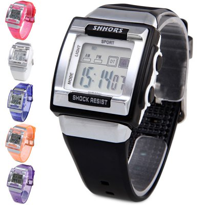 Shhors 358 Water Resistant Sports Watch Multifunctional LED Wristwatch