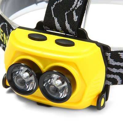 Гаджет   C09 Cree R5 Blue + White Light LED Headlamp 200Lm 4 Modes Rechargeable Bicycle Light Headlights