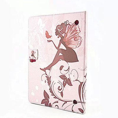 ФОТО Butterfly Wings Girl Design Inlaid Diamond PU Leather Case with Stand Function for Samsung Galaxy Tab S T800