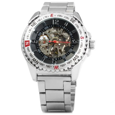 ФОТО Wilon Automatic Mechanical Watch Men Hollow - out Style Wristwatch