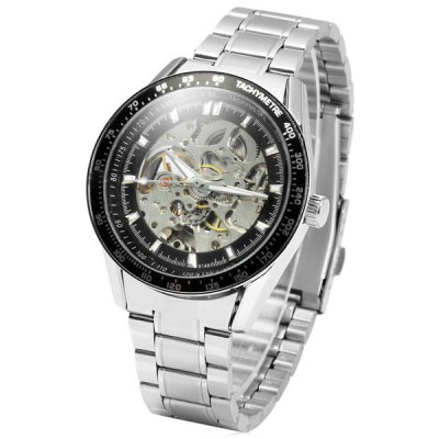ФОТО Hollow - out Automatic Mechanical Male Watch Stainless Steel Body