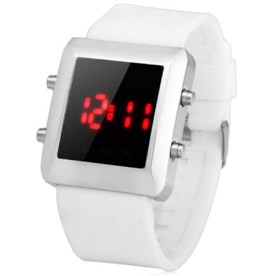 Гаджет   Unisex LED Watch with Date Function Red Digital Soft Rubber Band LED Watches