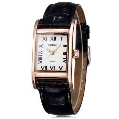 Гаджет   Skone 5058 Ladies Japan Quartz Watch with with PU Band Rectangle Dial