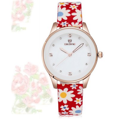 Skone 5057 Japan Movt Diamond Female Quartz Watch