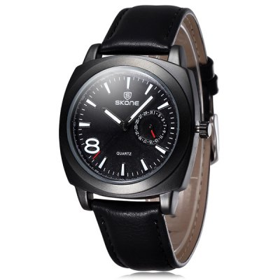 Skone 5059 Luminous Pointers Male Japan Quartz Watch Date Display PU BandMens Watches<br>Skone 5059 Luminous Pointers Male Japan Quartz Watch Date Display PU Band<br><br>Brand: Skone<br>Watches categories: Male table<br>Watch style: Business<br>Available color: Black, Green, Coffee, Light Coffee<br>Movement type: Quartz watch<br>Shape of the dial: Round<br>Display type: Analog<br>Case material: Alloy<br>Band material: PU<br>Clasp type: Pin buckle<br>Special features: Date<br>The dial thickness: 1.2 cm / 0.47 inches<br>The dial diameter: 4.2 cm / 1.65 inches<br>The band width: 1.9 cm / 0.75 inches<br>Product weight: 0.048 kg<br>Package weight: 0.098 kg<br>Product size (L x W x H): 24.5 x 4.2 x 1.2 cm / 9.63 x 1.65 x 0.47 inches<br>Package size (L x W x H): 25.5 x 5.2 x 2.2 cm / 10.02 x 2.04 x 0.86 inches<br>Package Contents: 1 x Skone 5059 Watch