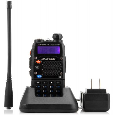 Baofeng 5RD VHF / UHF Dual Band Programmable Walkie Talkie Two - way Radio FM Transceiver Handheld Interphone with Flashlight